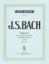 Bach J.s. - Double Concerto Pour Violon En Re Mineur Bwv 1043 - Violon, Piano