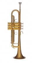 Bands Bsmbxhlr-8m Trompette Professionnelle Mbx-heritage Or Mat