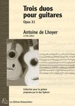 De Lhoyer - 3 Duos Pour Guitares Op.31 - Guitare