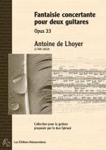 De Lhoyer - Fantaisie Concertante Pour 2 Guitares Op.33 - Guitare
