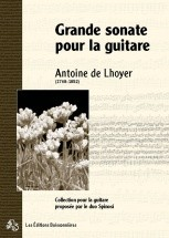 De Lhoyer - Grande Sonate Opus 12 - Guitare