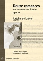 De Lhoyer - Douze Romances Avec Accompagnement Guitare Op.24 - Chant