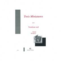 Buquet G. - Miniatures (3) - Trombone Solo