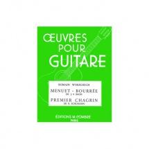 Bach Johann Sebastian / Schumann Robert - Menuet-bourree / Premier Chagrin - Guitare