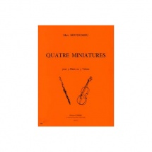 Berthomieu Marc - Miniatures (4) - 3 Flutes Ou 3 Violons