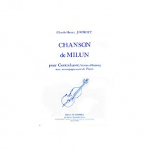 Joubert Claude-henry - Chanson De Milun - Contrebasse Et Piano