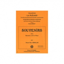 Demillac Francis-paul - Souvenirs - Clarinette Et Piano