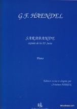 Haendel Georg Friedrich - Sarabande Extr. De La Xie Suite - Piano