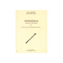 Lecenes Dany / Meunier Gerard - Ephemeres : Janvier A Decembre - Flute A Bec Et Piano