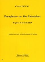 Pascal Claude - Paraphrase Sur The Entertainer De S. Joplin - Clarinette Ou Saxophone Alto Et Piano