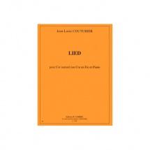Couturier Jean-louis - Lied - Cor Naturel Ou Cor En Fa Et Piano