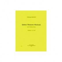 Manen Christian - Moments Musicaux (15) Vol.1 N.1 A 8 - Trombone Et Piano