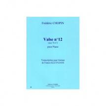Chopin Frederic - Valse N.12 Op.70 N.2 - Guitare