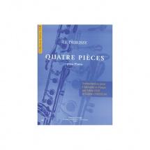 Debussy Claude - Pieces Pour Piano (4) - Transcription Pour Clarinette Et Harpe