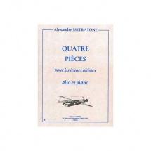 Metratone Alexandre - Pieces Pour Jeunes Altistes (4) - Alto Et Piano