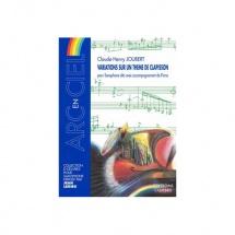 Joubert Claude-henry - Variations Sur Un Theme De Clapisson - Saxophone Alto Et Piano