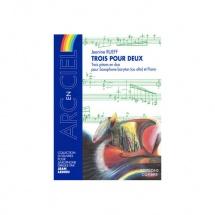 Rueff Jeanine - Trois Pour Deux (3 Pieces En Duo) - Saxophone Baryton (ou Alto) Et Piano