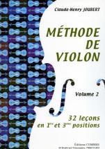 Joubert Claude-henri - Methode De Violon Vol.2
