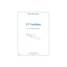 Milliere Gilles - Vocalises (11) - Trombone Et Piano