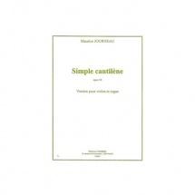 Journeau Maurice - Simple Cantilene Op.50 - Violon Et Orgue