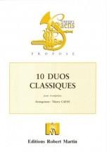 Caens T. - Dix Duos Classiques Pour Deux Trompettes