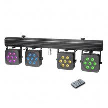 Cameo Set De Projecteurs Led 28 X Led 8 W Quadricolores, Compacts, Avec Valise De Transport