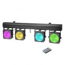 Cameo Set De Projecteurs Led 4 X Led 30 W Rgb Cob, Compacts, Avec Valise De Transport