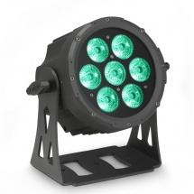 Cameo Projecteur Flat Par Led 7 X 10 W Rgbwa Avec Boitier Noir