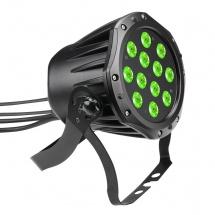 Cameo Projecteur Outdoor Par Tri Colour Led 12 X 3 W Rgb Avec Boitier Noir