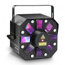Cameo Effet Lumineux 3 En 1 (derby, Stroboscope Et Laser), 5 X 3 W Rgbaw