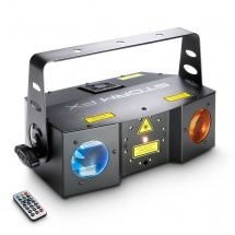 Cameo Effet « 3 En 1» Avec Laser Grating, Stroboscope Et Effet Derby Avec Télécommande Infrarouge - Clstor