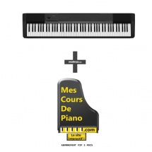 Casio Cdp-130bk + Abonnement 3 Mois Vip Mes Cours De Piano