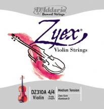 D\'addario And Co Zyex Violin String Set 3/4 Scale Medium Tension