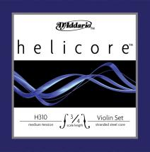 D\'addario Helicore Violon 3/4 Jeu De Cordes Medium