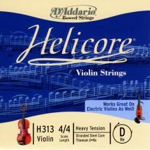 D\'addario Helicore Violon 4/4 Corde De Re Heavy/file Titane