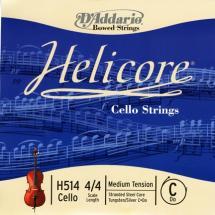 D\'addario Helicore Violoncelle 4/4 Corde De Do Medium/file Argent