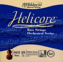 D\'addario Helicore Orchestral Contrebasse 3/4 Jeu De Cordes Medium