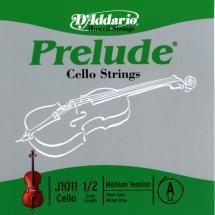 D\'addario Prelude Violoncelle 1/2 Corde De La Medium/file Nickel