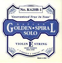 D\'addario Kaplan Violon 4/4 Corde De Mi Light/acier Plein-a Boule