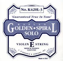 D\'addario Kaplan Violon 4/4 Corde De Mi Medium/acier Plein-a Boucle