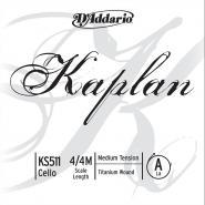 D\'addario Kaplan Violoncelle 4/4 Corde De La Medium/acier File Titanium