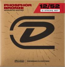Dunlop Cordes Acoustiques Phosphor Bronze Jeux Medium 12c