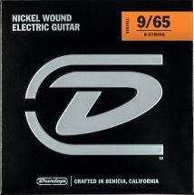 Dunlop Cordes Electriques Nickel Plated Steel Jeux Electrique Light 8 Cordes 09-65