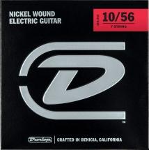 Dunlop Cordes Electriques Nickel Plated Steel Jeux Electrique Light 7 Cordes 10-56