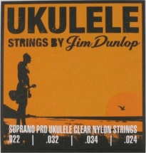 Dunlop Cordes Folk Ukulele Jeux Soprano Pro !24-32-34-22