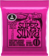 Ernie Ball 3223 Super Slinky 9-42 Pack De 3 Jeux