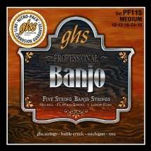 Ghs Banjo Plaqué Nickel Medium 10-12-16-24-10