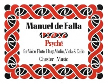 Manuel De Falla - Psyche For Voice, Flute, Harp, Violin, Viola And Cello - Study Score