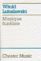 Musique Funebre For String Orchestra - Study Score