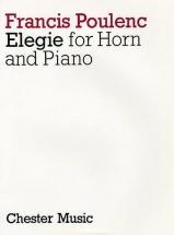 Poulenc Francis - Elegie - Cor, Piano